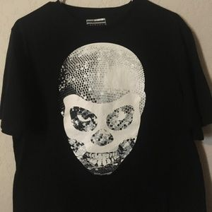 Sean John Disco Ball Skull Size Large Tshirt